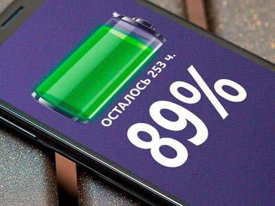 Если телефон не правильно отображает уровень заряда, возможно отсутствие контакта с клеммой.